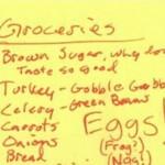 The Thanksgiving List